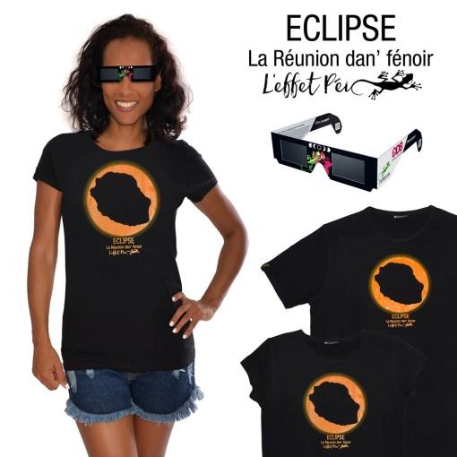 T-shirt Collector Eclipse - île de la Réunion