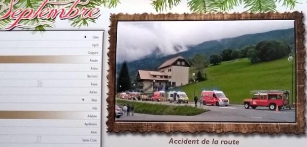 Saint Jean de Sixt fireman calendar