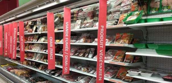 Quorn - Carrefour Annecy - stocked with meat