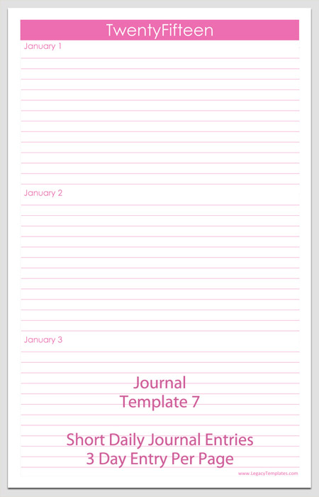 Journal Templates - Printable PDFs Legacy Templates - journal paper template