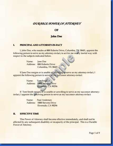 Legal-Kitsnet - Legal Power of Attorney Kits - power of attorney sample letters