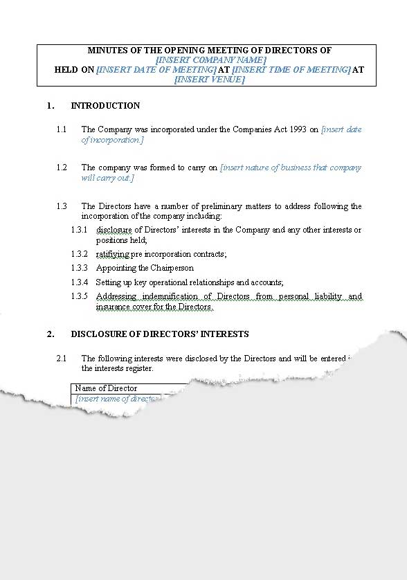 Business \u2013 Companies New Zealand Legal Documents, agreements