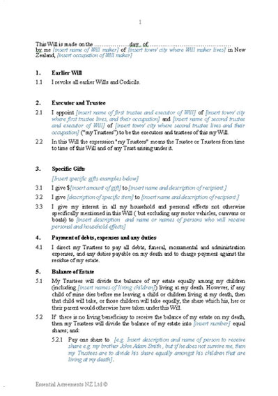 New Zealand Legal Documents, agreements, forms and contract templates - heads of agreement template free
