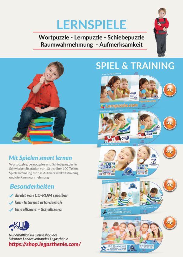 Spielesammlung, AFS-Methode, Legasthenie, Dyskalkulie, Legasthenientraining, Dyskalkulietraining, Aufmerksamkeit, Wahrnehmung, Symptom, CD-Rom