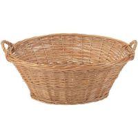 Large Oval Wicker Laundry Basket