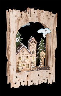 Winter Village in Archway Lamp - Autumn + Winter ...