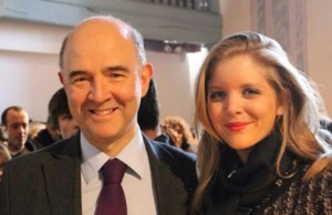 Pierre Moscovici et Marie-Charline Pacquot