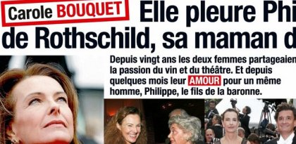 Carole Bouquet pleure Philippine de Rothschild