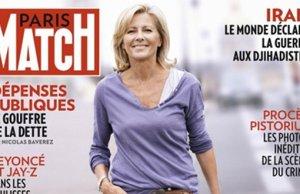 Claire Chazal répond Philippe dans Paris Match