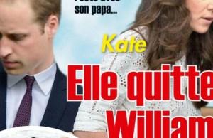 Kate Middleton «ne quitte pas» William