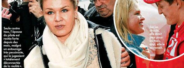 Michael Schumacher, Corinna Schumacher consciente de la gravité la situation
