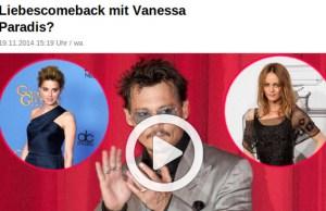 Vanessa Paradis, un vol express pour épauler Johnny Depp