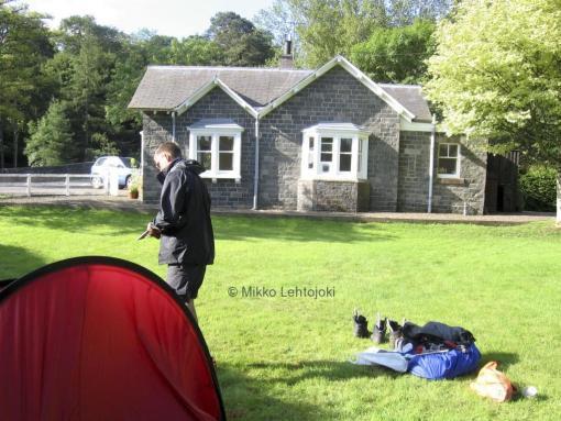 telttapaikka takapihalla