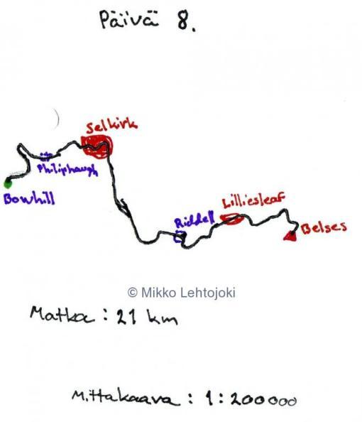 vaelluspäivä 8 kartta