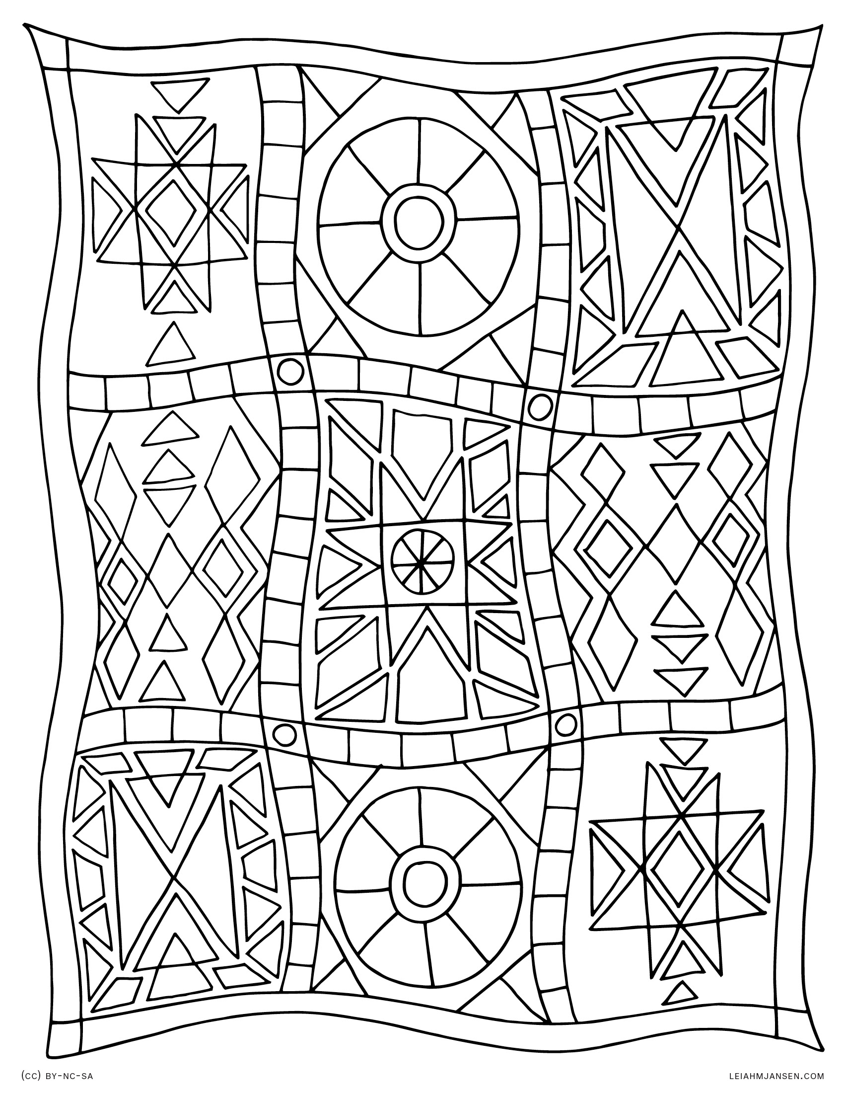 Colouring pages quilt - Coloring Pages Quilt