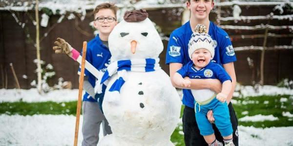 SNOW FUN – Over 80 Leicester City Snowmen Built