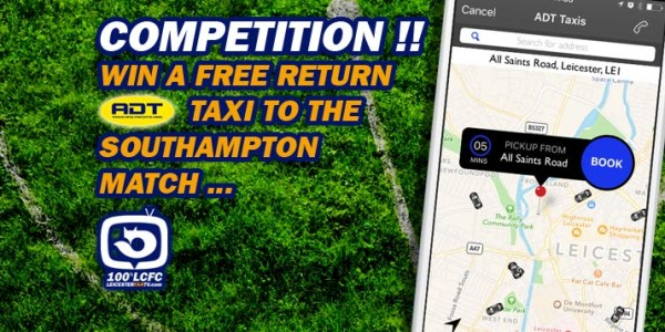 Win a FREE Return ADT Cab to the Southampton Match