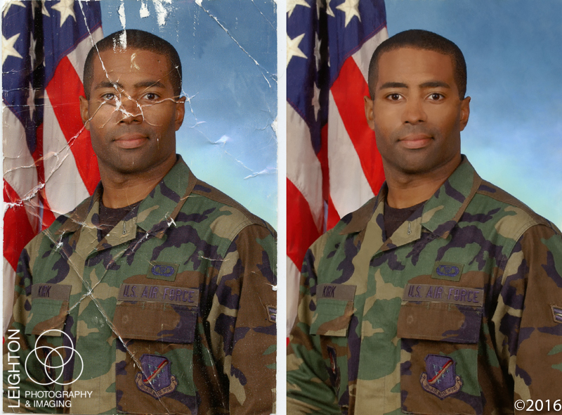 Military Portrait Photo Restoration