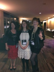Frana, Marnie and me - members of my RWA writing group and essential tribe members