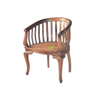 Teak Indoor Barrel Chair - Teak Armchair For Wholesale