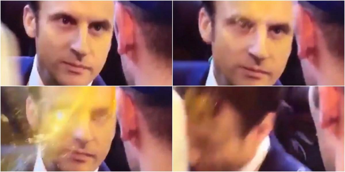 Emmanuel macron re oit un uf sur la t te au salon de l for Macron salon agriculture oeuf