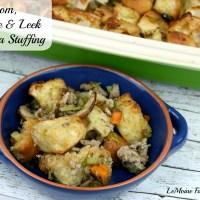 Mushroom, Sausage & Leek Ciabatta Stuffing