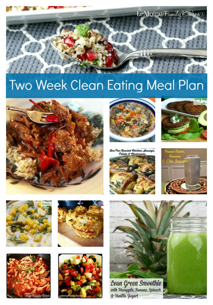 Two Week Clean Eating Meal Plan - LeMoine Family Kitchen - how to plan weekly meals for two