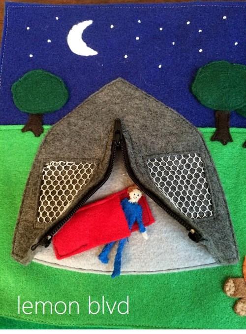 Quiet Book Open Tent - lemon blvd