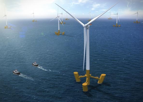 Alstom et DCNS, nouveaux partenaires dans l'éolien flottant