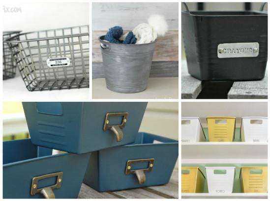 Dollar Store Bins To Stylish Storage Just Add Paint