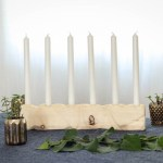 DIY Geometric Wooden Candle Holder