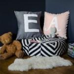 DIY Monogram Pillows with Stripflock