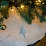 DIY Natural Glittered Tree Skirt