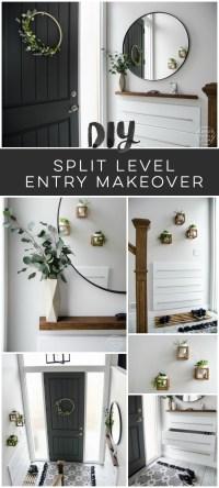 A DIY Split Level Entry Makeover: Before & After - Lemon ...