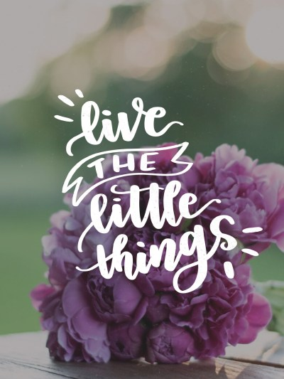 Live the Little Things - July Tech Wallpapers - Lemon Thistle