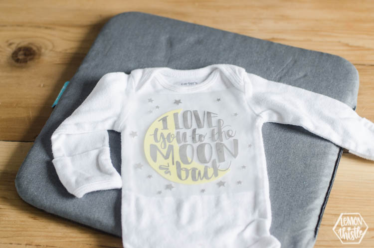 No Mess Onesie Making Baby Shower Activity with Cricut Iron On - onesies designs