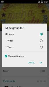 Cara menonaktifkan notifikasi Group