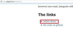 Klik Online Demo untuk memulai kompresi CSS