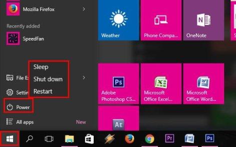 Cara Shutdown Windows 10 Yang Pertama