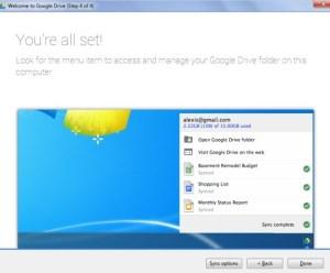 pilih sinkronisasi google drive