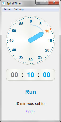 Lena Games - Spiral Timer - simple cooking timer for Windows and iOS
