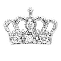 gold diamond crown earring - lenawald