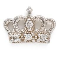 diamond crown earring