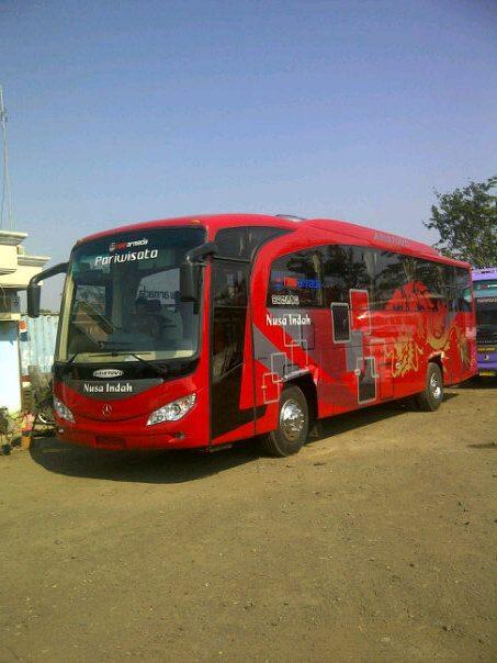 Bus Pariwisata - Nusa Indah (Merah) ⋆ Lena Wisata