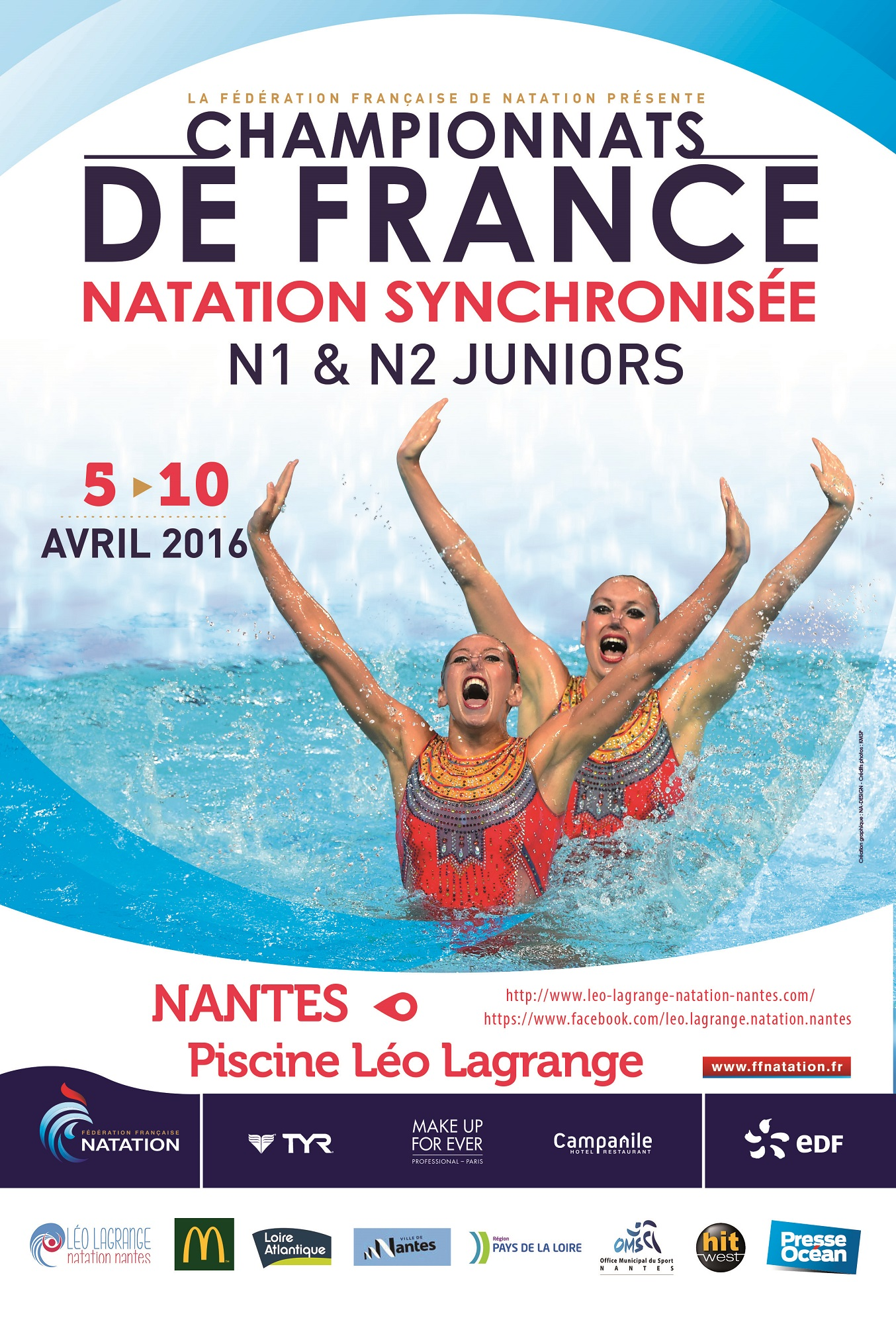 Organisation championnats de france n2 n1 juniors leo for Piscine ile gloriette nantes