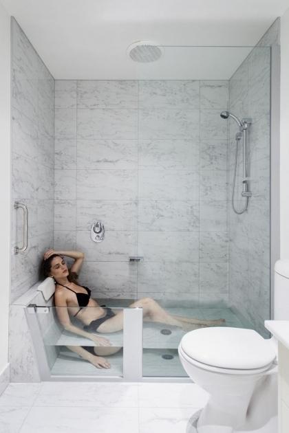 Small Bathtub Shower Combo