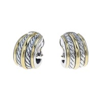 Vintage David Yurman Cable Hoop Earrings