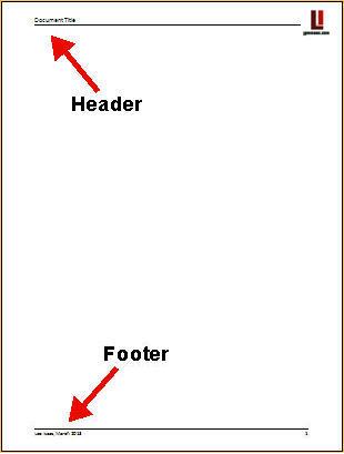 cv header and footer