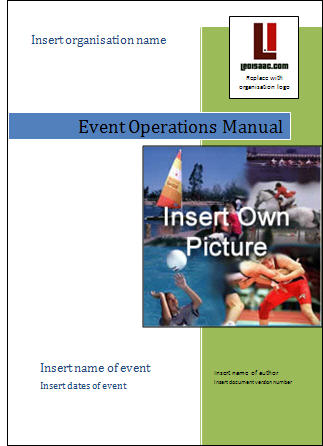 Event Management Guide - Create your own event operations manual - event manual template