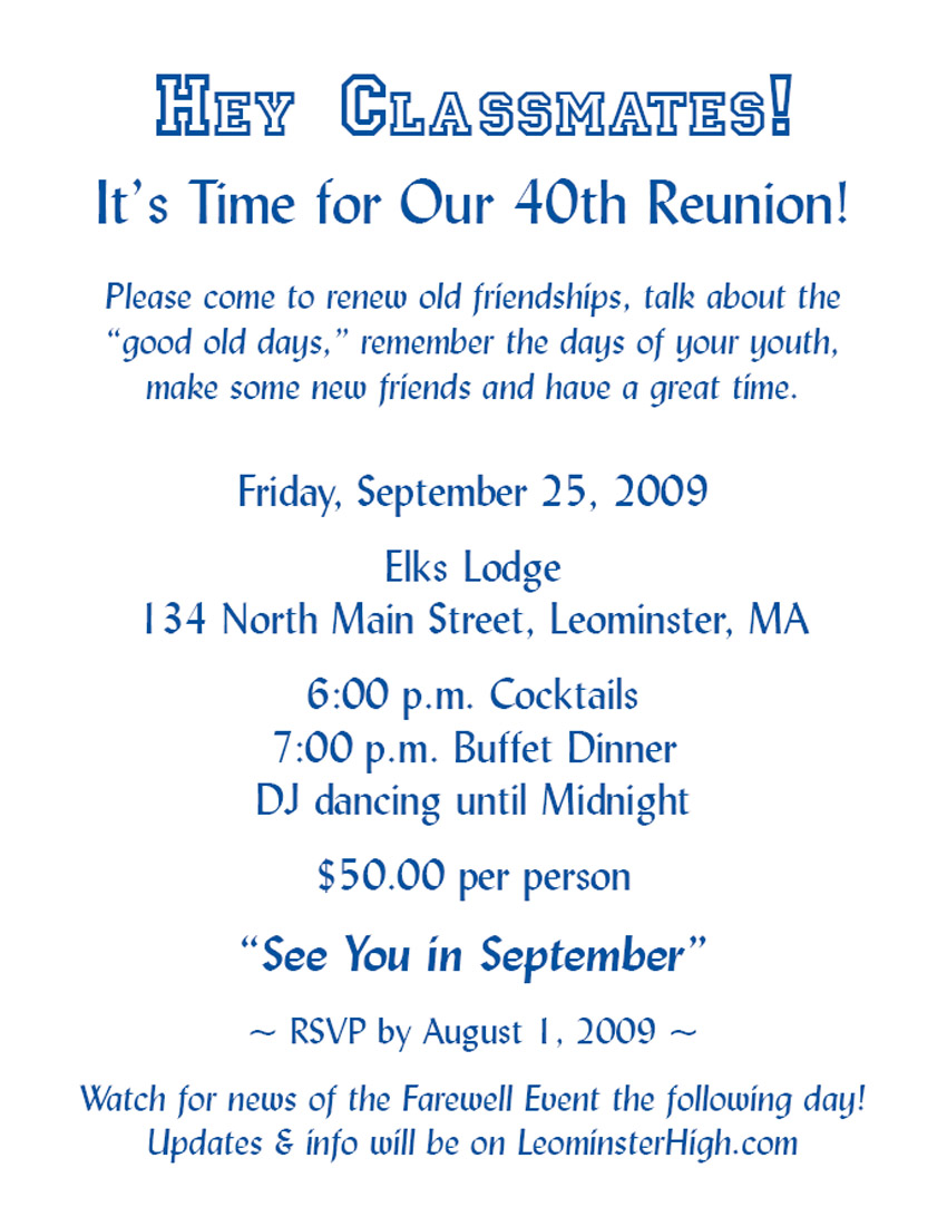 Class reunion invitation letter example good resume template class reunion invitation letter class reunion invitation wording reunion wording ideas class reunion letter template promo stopboris Gallery
